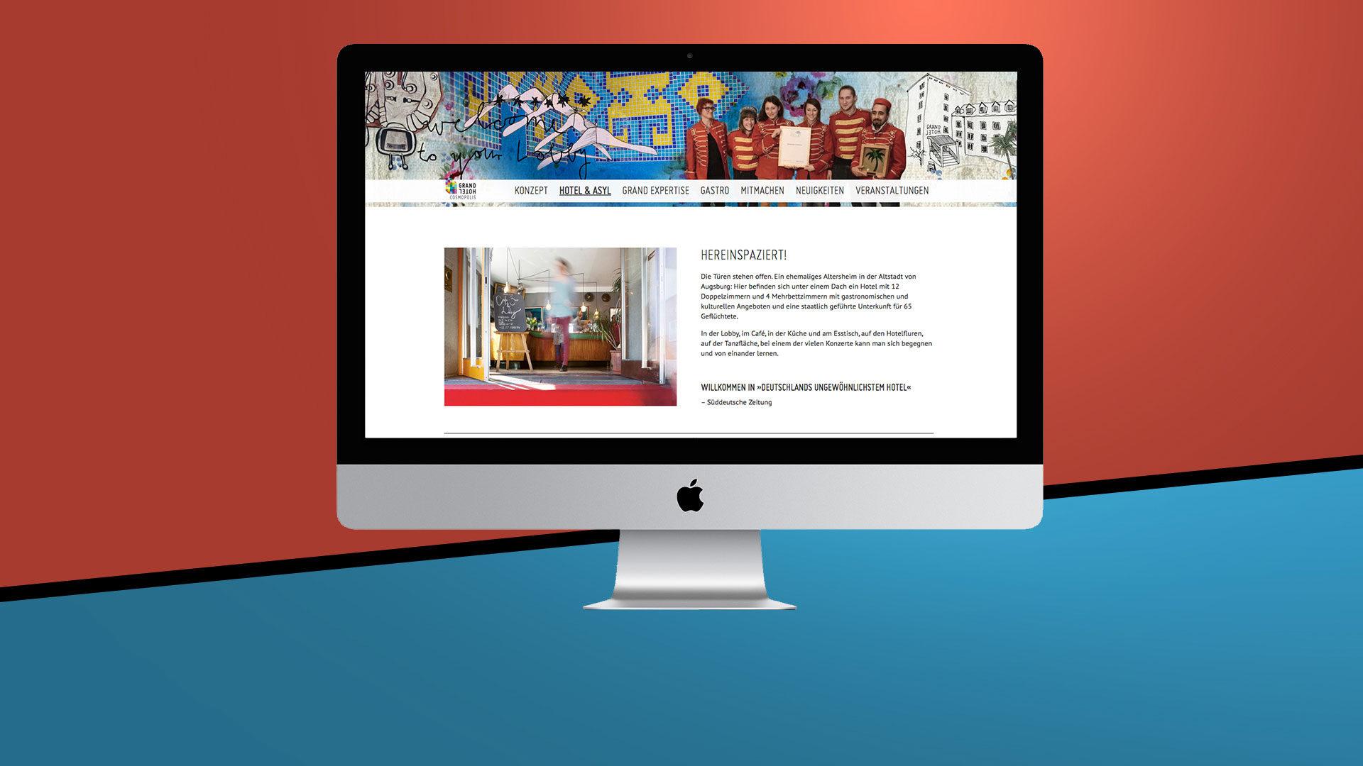 Grandhotel Cosmopolis Webprogrammierung