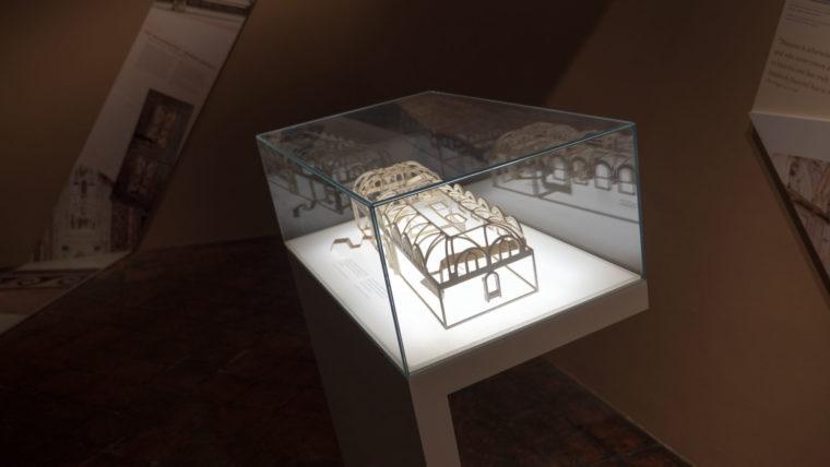 Schematische Darstellung der Badstuben als 3D Druck