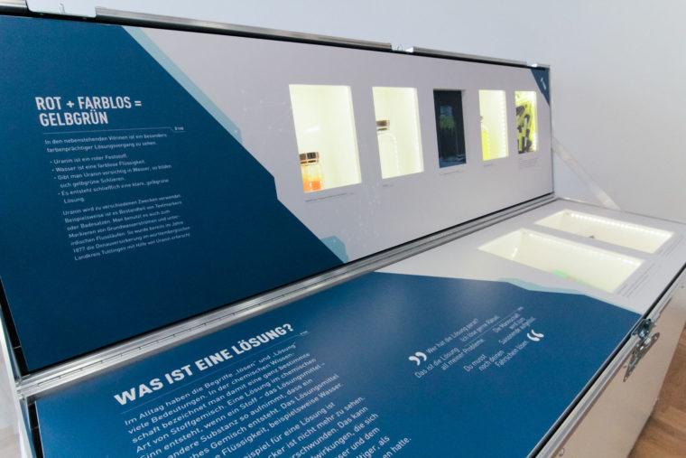 Ausstellungsmodul als Vitrine