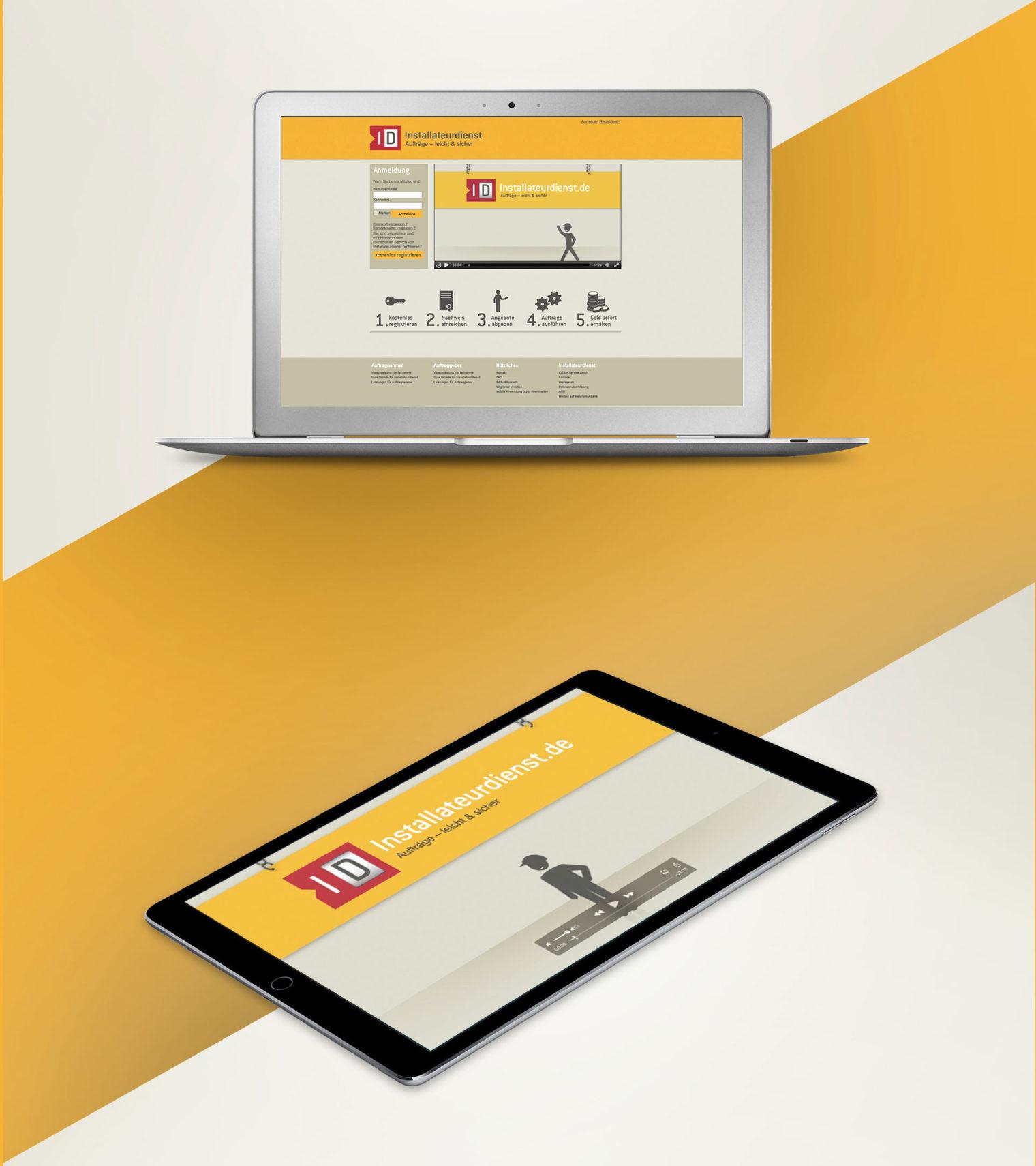 Installateurdienst Webdesign Webprogrammierung