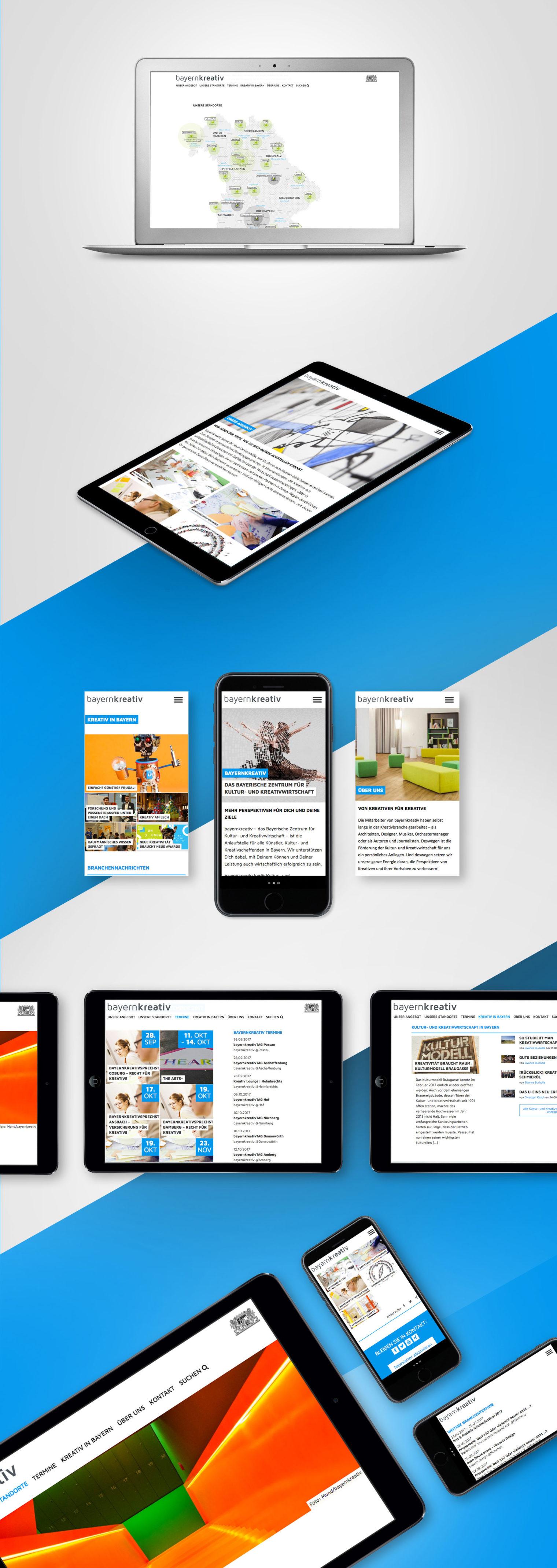 Design Programmierung Bayern-Kreativ Webseite