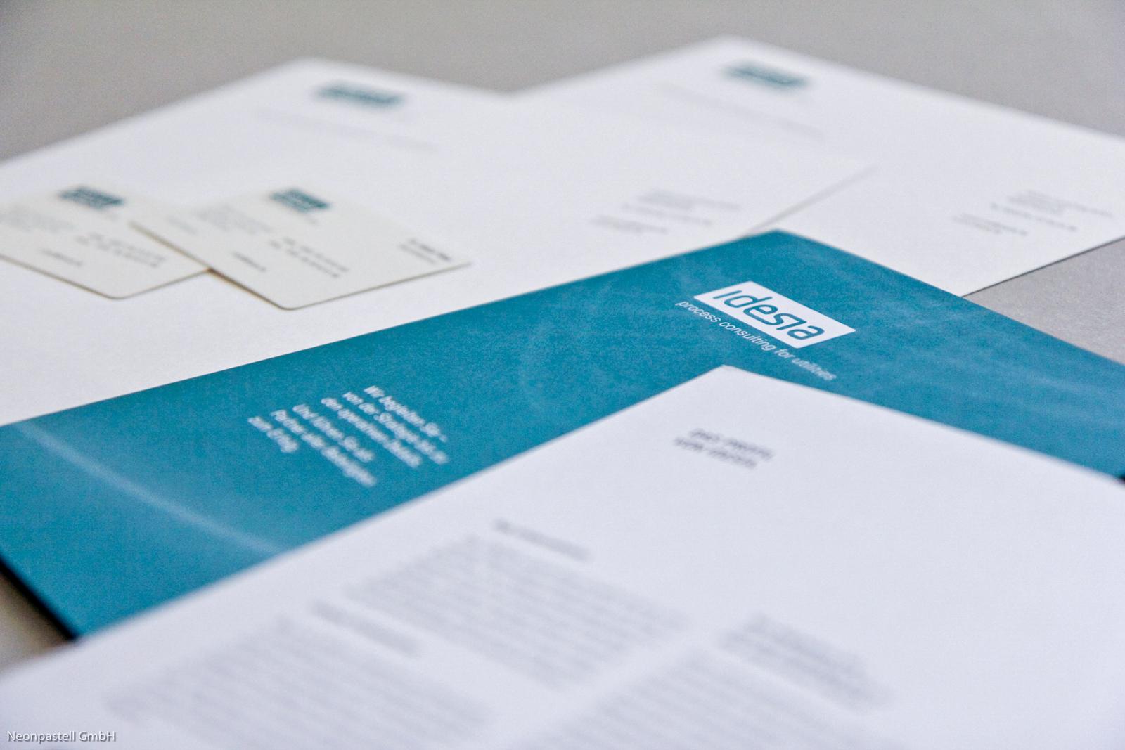 Briefpapier Visitenkarte Logo