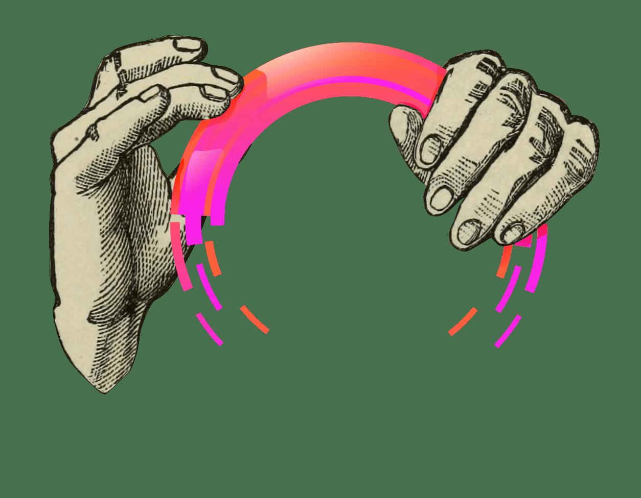 Hände mit Kreis